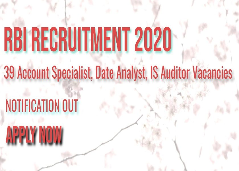 RBIAccount Specialist, Date Analyst, IS Auditor
